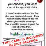 card - nontransitive dice (set of 4) (1)