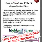card - craps - door pops