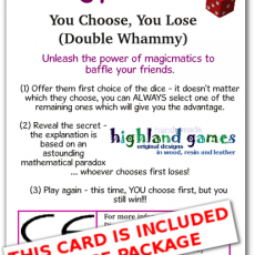 card nontransitive dice – double whammy