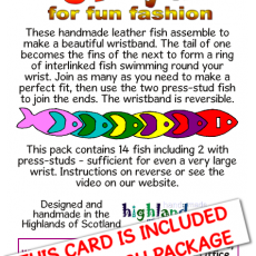 card – funky fish (front)