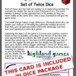 card twice set