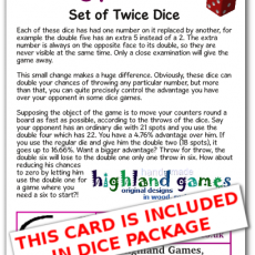 card twice set
