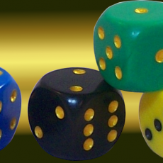 nontransitive dice (set of 4)