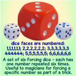forcing dice (set of 6)