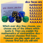 nontransitive dice Double Whammy