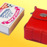 scale, 6-dice case compared to matchbox